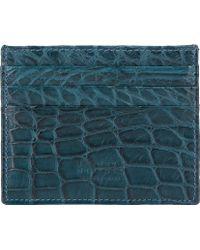 Barneys New York Alligator Card Case - Lyst