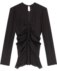 Isabel Marant Heather Ruched Blouse - Lyst