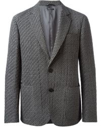 Giorgio Armani Quilt Detailing Classic Cut Blazer - Lyst