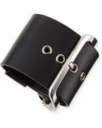 Givenchy Buckled Leather Cuff - Lyst