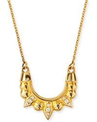 Pamela Love Gold-plated Mini Tribal Spike Necklace - Lyst