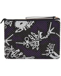 KENZO - Monsters Quilted Pouch - Lyst