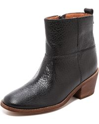 Madewell - Fitted Block Heel Boots - True Black - Lyst