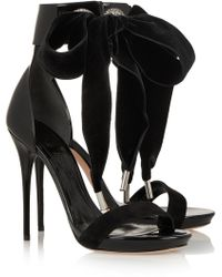 Alexander McQueen Swarovski Crystalembellished Patentleather Sandals - Lyst