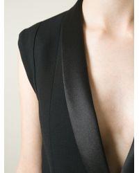 Haider Ackermann Open Back Asymmetric Waistcoat - Lyst