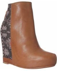 Ella Moss Janelle Wedge Boot - Green
