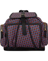 Pierre Hardy Burgundy Geo Cube Coated Canvas Backpack - Lyst