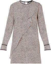 BCBGMAXAZRIA Jacie Printed Front Drape Tunic Dress - Lyst