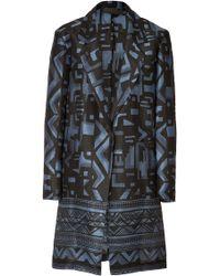 Donna Karan New York Cottonsilk Printed Coat - Lyst