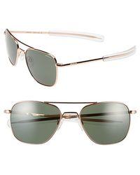 Randolph Engineering - 55mm Aviator Sunglasses - Lyst
