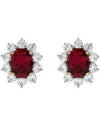 Carat* - 2ct Fancy Oval Ruby Stud Earrings - Lyst