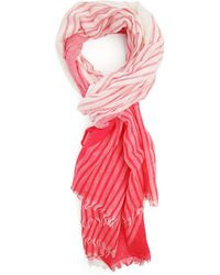 Menlook Label Red And White Striped Scarf - Lyst