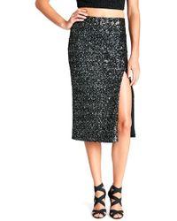 Dress the Population - 'alessandra' Sequin Midi Skirt - Lyst