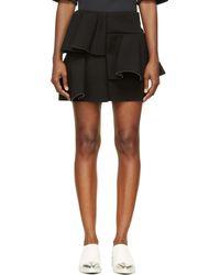 Marni Black Jersey Neoprene Tiered Skirt - Lyst