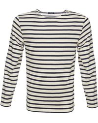 Saint James Heavy Weight Striped Jersey Shirt black - Lyst