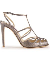 Ralph Lauren Collection Lizard Blaretta Sandal - Lyst