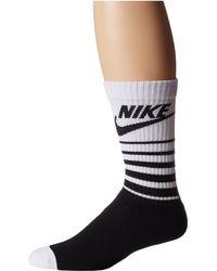 Nike Nsw Classic Striped Hbr Sock - Black