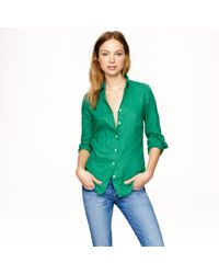 J.Crew Perfect Shirt In Linen - Lyst