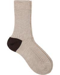 Maria La Rosa Solid Mid-Calf Sock - Lyst