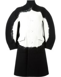 ANREALAGE - Cable Knit Panel Midi Coat - Lyst