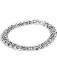 David Yurman Curb Link Narrow Necklace with Diamonds - Lyst