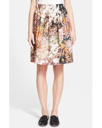 Carven Women'S Tree Print Tech Poplin Skirt - Lyst