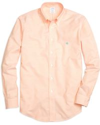 Brooks Brothers Non-Iron Regent Fit Oxford Sport Shirt - Lyst