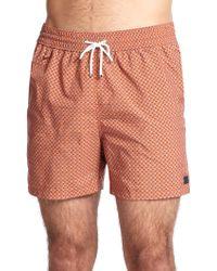 Ferragamo Printed Swim Trunks - Orange