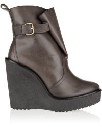 Pierre Hardy Leather Wedge Ankle Boots - Lyst