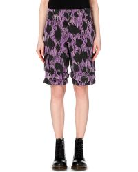 Jeremy Scott Removable Bag Abstract Cotton Shorts - For Women - Lyst