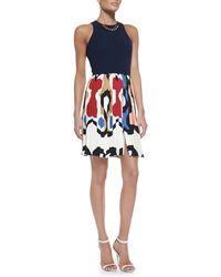 Victoria Beckham Sleeveless Chain-trim Combo Dress - Lyst