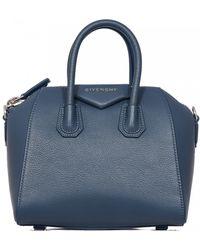 Givenchy   Mini Antigona Mineral Blue   Lyst