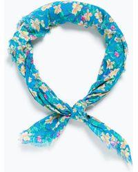 Zara Bandana Print Hairband blue - Lyst
