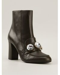 Moschino Cheap & Chic Crystal Embellished Boots - Lyst