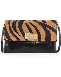 Badgley Mischka Dakota Small Calfhair Crossbody Bag - Lyst