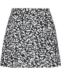 Theory Lonati Broderie Anglais Cotton Mini Skirt - Lyst