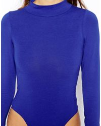 American Apparel High Neck Long Sleeve Body - Lyst