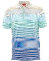 Missoni Stripe-Knit Polo Shirt - Lyst