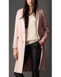 Burberry Double Cashmere Dropped Shoulder Coat - Lyst