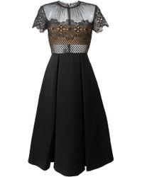 Self-Portrait Felicia Embroidered Midi Dress - Black