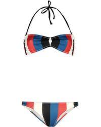 Solid & Striped Bikini red - Lyst