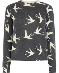 Oasis Printed Swallow Jumper - Lyst