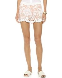 English Factory - Lace Shorts - Off White - Lyst