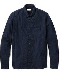 Folk Panel Cord Shirt - Lyst