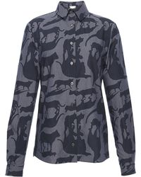 Alexis Mabille - Cat Print Button Up - Lyst