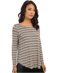 Karen Kane Long Sleeve Stripe Top - Lyst