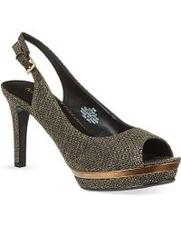 Nine West Able 22 Glittered Peep-Toe Slingback Heels - For Women - Lyst