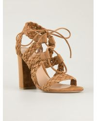Gianvito Rossi 'Jimi' Braided Sandals - Lyst