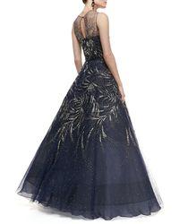 Oscar de la Renta Sleeveless Embellished Ball Gown - Lyst