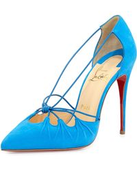 Christian Louboutin Riri Knotted Red Sole Pump - Lyst